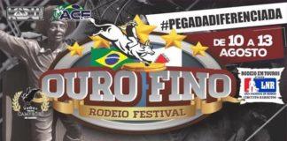 Atrações do Ouro Fino Rodeio Festival 2017.