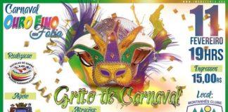 Grito de Carnaval em Ouro Fino.