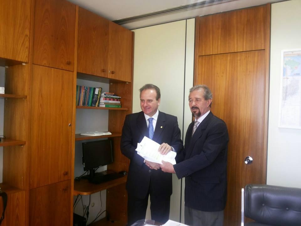 Dr. Mauricio e o Deputado Bilac Pinto.