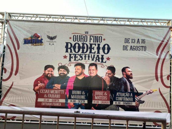 Atrações do Ouro Fino Rodeio Festival