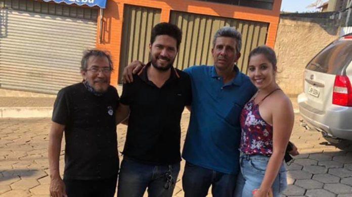 Bruno Zucareli ao lado de Daniel Muroni e Iara Muroni