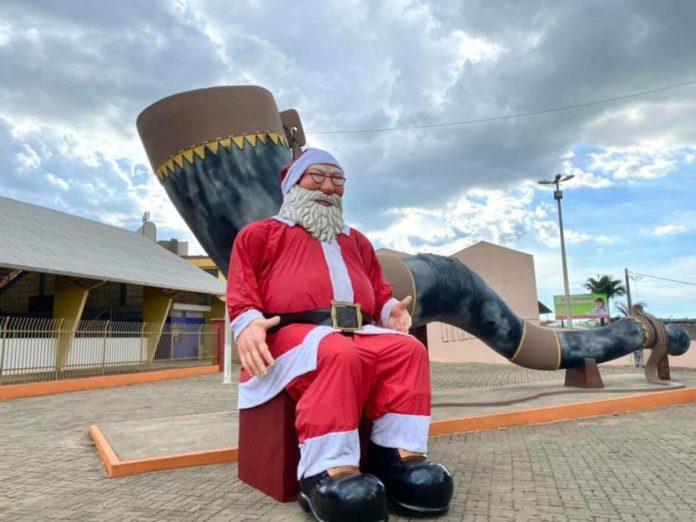 Papai Noel do Berrante, enfim, trajado