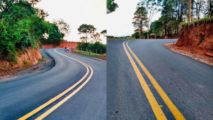 Nova estrada do bairro do Peitudos