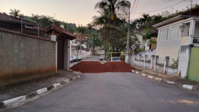 Barreira na Rua General Osório